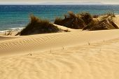 pic of tarifa  - Beautiful view on beach and ocean Spain Tarifa - JPG