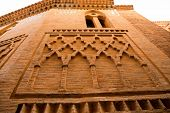 image of mausoleum  - Aragon Teruel Los Amantes mausoleum in San Pedro Mudejar church Spain - JPG