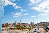 Benidorm Alicante cityscape skyline vacation destination in Spain poster