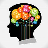 foto of cognitive  - The concept of modern education - JPG