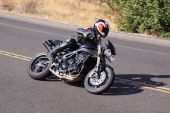picture of crotch-rocket  - High speed motorcycle sportbike on mountain road - JPG