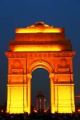 stock photo of india gate  - India Gate in New Delhi - JPG
