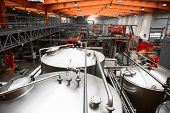 stock photo of malt  - Interior of a modern brewery equipment tools - JPG