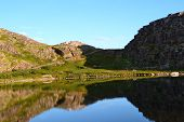 picture of murmansk  - Pure Lake under the Polar Circle Murmansk region - JPG