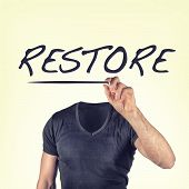 pic of brainwashing  - high resolution picture of a restore concept - JPG