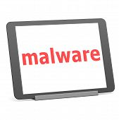 stock photo of malware  - Tablet malware image with hi - JPG