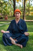 picture of ayurveda  - woman meditates after an ayurveda - JPG