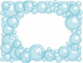 foto of h20  - Cute water bubbles frame with white background for your text - JPG