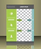 image of placeholder  - Vector  business brochure or magazine cover  template - JPG