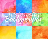stock photo of differences  - Backgrounds watercolor design elements different colors in vector format - JPG