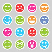 picture of angry smiley  - Flat and round smiley icons for your design - JPG