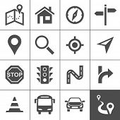 pic of trans  - Route planning and transportation icon set - JPG