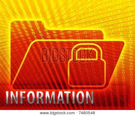 Carpeta de datos cifrado seguro