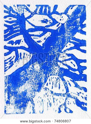 Tree print blue