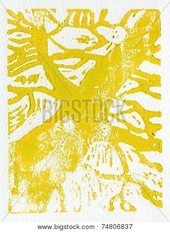 Tree print yellow