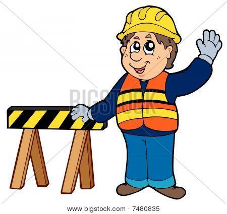 Cartoon construction worker