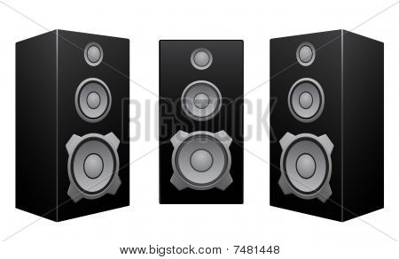 Black Speaker White Background