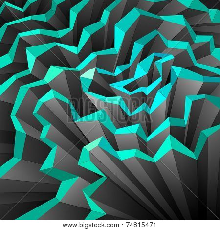Spatial Cubistic Background, vector eps10 illustration