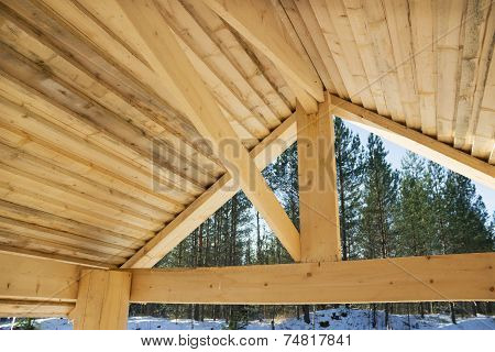 Internal Surface Of A Wooden Roof