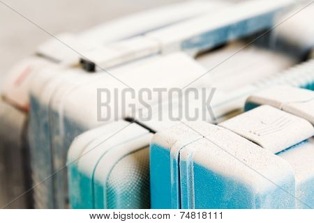 Tool Boxes Under Dust