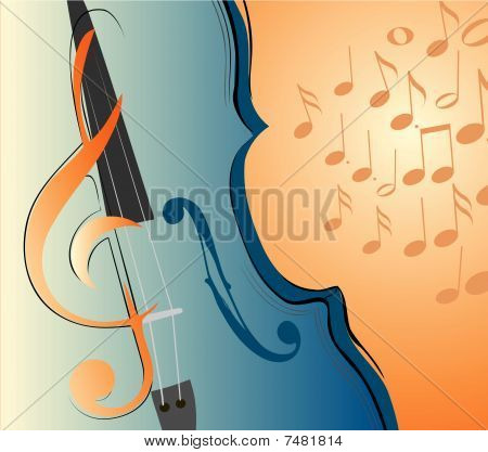 Violin And Key