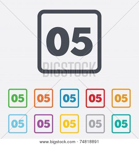 Fifth step sign. Loading process symbol.