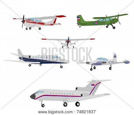airplanes illustration