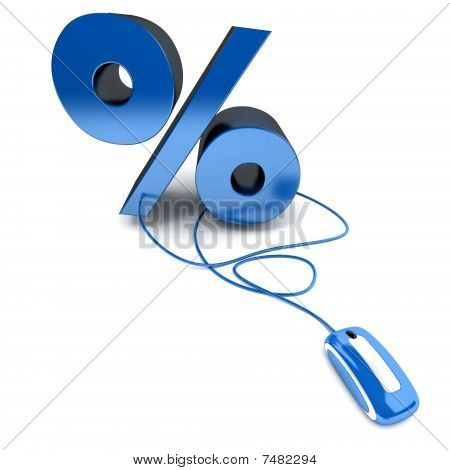 Online Percentage In Blue