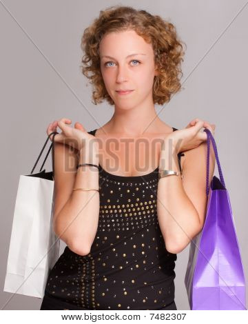 Shopping Blond Girl