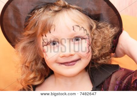 Halloween,girl,witch,Face, Hat.