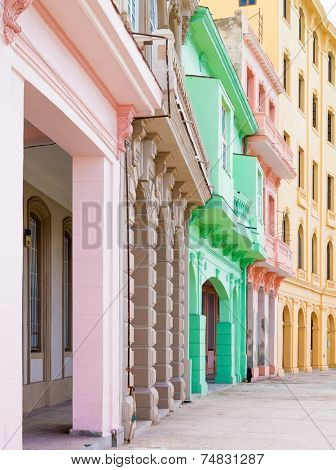 Typical colorful architecture in Old Havana