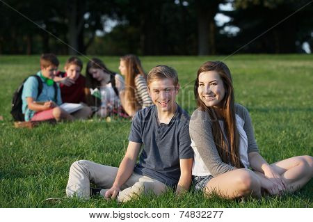 Two Happy Teen Friends