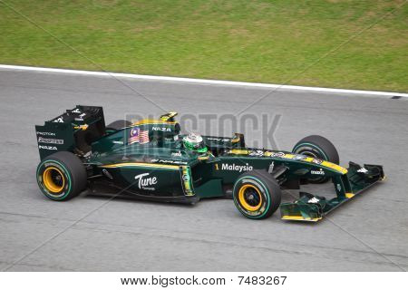 Kovalainen at the Malaysian F1