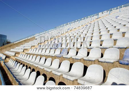 White Plastic Stadium Chairs