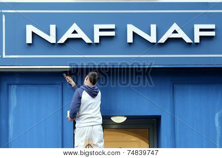 Worker Wall Painting Naf Naf Store