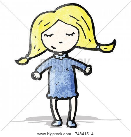 cartoon pretty blond girl