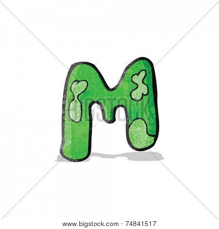 child's drawing of the letter m