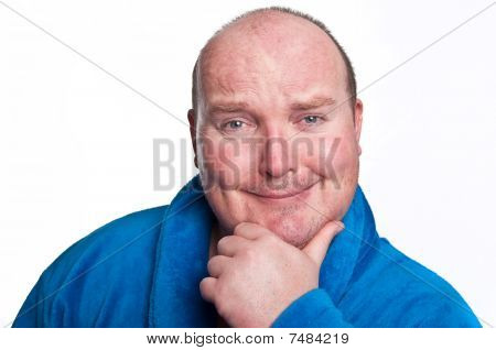 Casual Male Face Portrait On White
