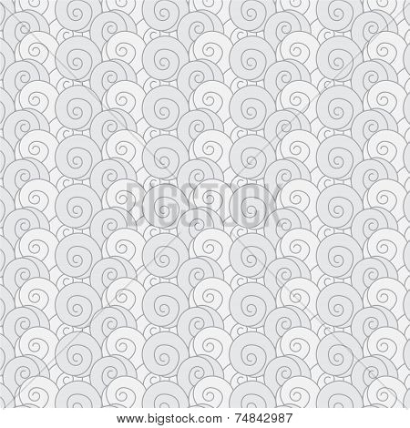 Seamless Pattern Swirl Monochrome Wave Japanese  Background