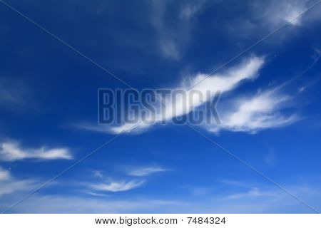 ฺBlue sky with cloud