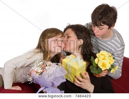 Mom Kissing