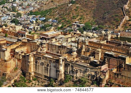 Impressive Amber Fort at Jaipur India