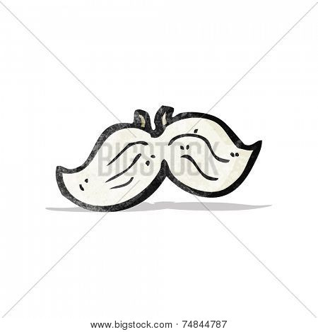 fake mustache cartoon