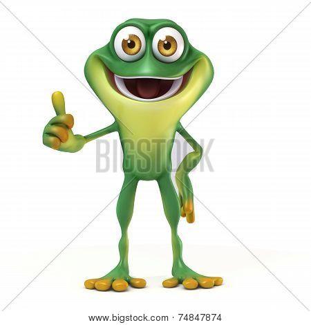 frog thumb up