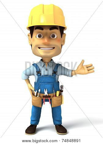 3d handyman normal pose