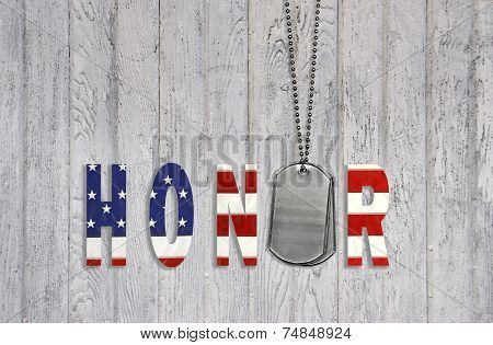 military dog tags with honor