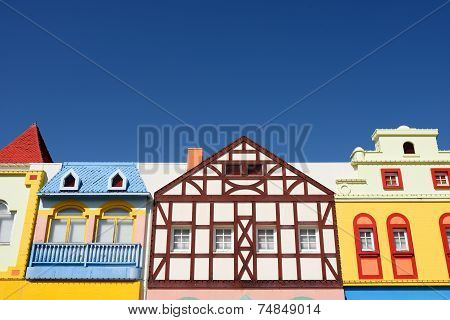 colorful houses architecture