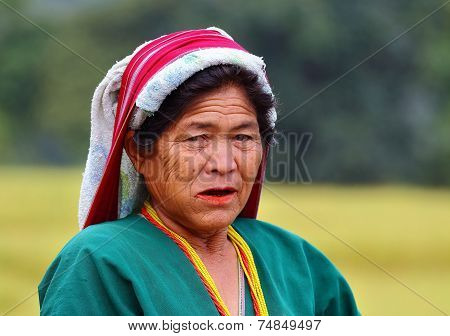 Woman from the Hill Tribe in Chiang Mai, Thailand