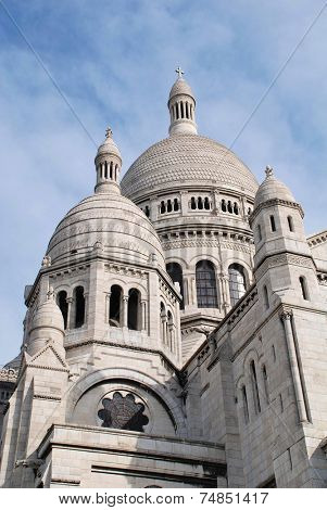 The dome of the Sacre Coeur basilica at Montmartre in Paris, France. Designed by Paul Abadie, the building was completed in 1914.