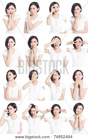 Chinese Woman Facial Expressions